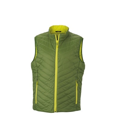 Giacche Men's Lightweight Vest colore jungle-green/acid-yellow taglia S