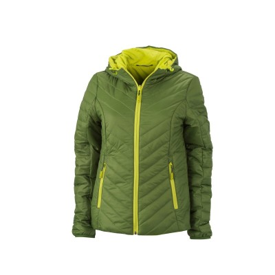 Giacche Ladies' Lightweight Jacket colore jungle-green/acid-yellow taglia S