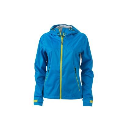 Giacche Ladies' Outdoor Jacket colore aqua/acid-yellow taglia S