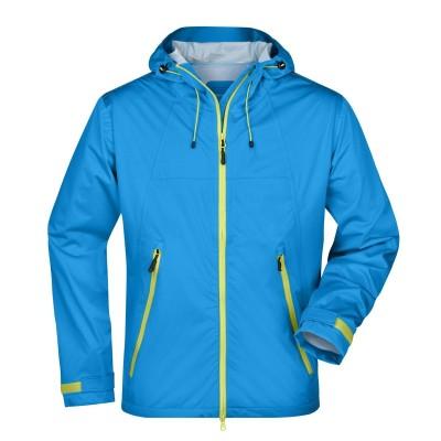 Giacche Men's Outdoor Jacket colore aqua/acid-yellow taglia S