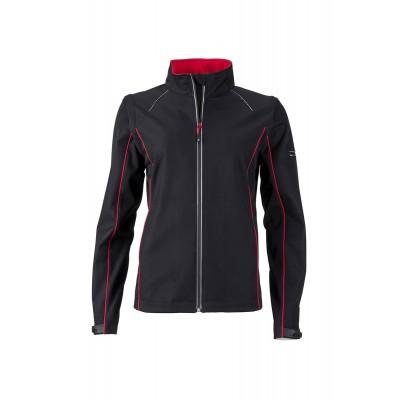 Soft shell Ladies' Zip-Off Softshell Jacket colore black/red taglia S