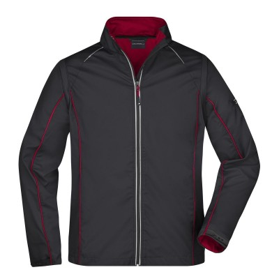 Soft shell Men's Zip-Off Softshell Jacket colore black/red taglia S