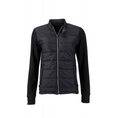 Giacche Ladies' Hybrid Sweat Jacket colore black taglia S