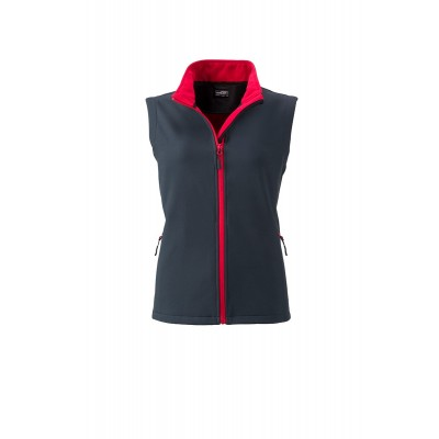 Soft shell Ladies' Promo Softshell Vest colore iron-grey/red taglia S