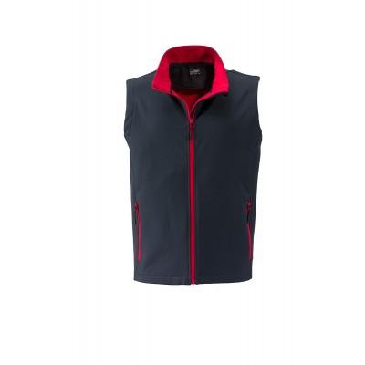Soft shell Men's Promo Softshell Vest colore iron-grey/red taglia S