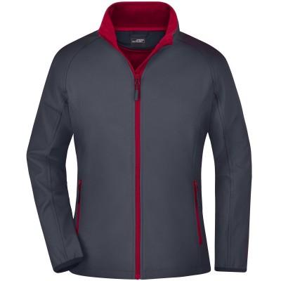 Soft shell Ladies' Promo Softshell Jacket colore iron-grey/red taglia S