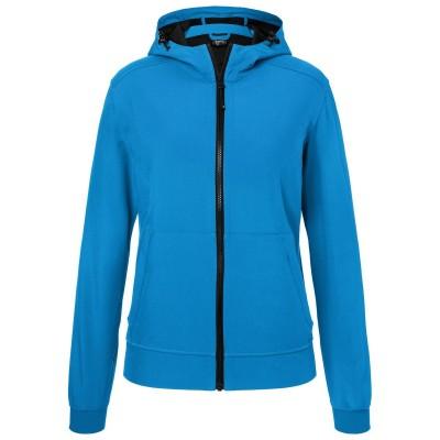 Soft shell Ladies' Hooded Softshell Jacket colore blue/black taglia XS