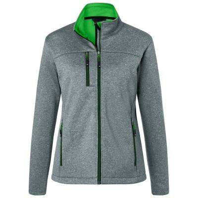 Soft shell Ladies' Softshell Jacket colore dark-melange/green taglia XS