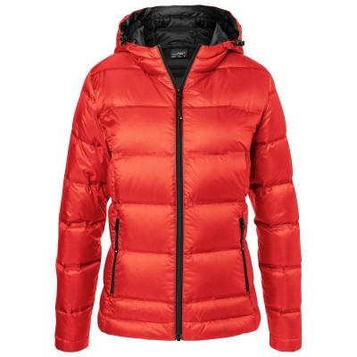 Giacche Ladies' Hooded Down Jacket colore flame/black taglia XS