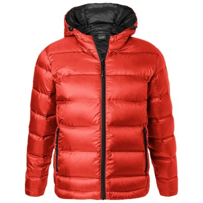 Giacche Men's Hooded Down Jacket colore flame/black taglia S