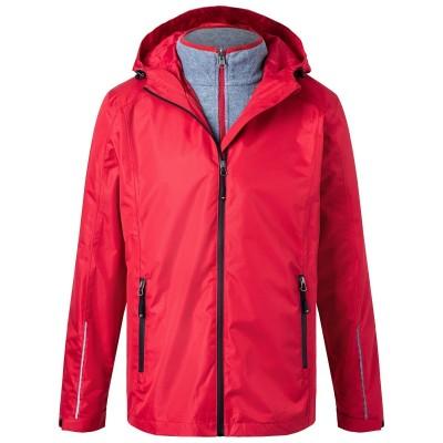 Giacche Men's 3-in-1-Jacket colore red/black taglia S