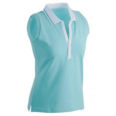 Polo Ladies' Elastic Polo Sleeveless colore lagoon/white taglia S