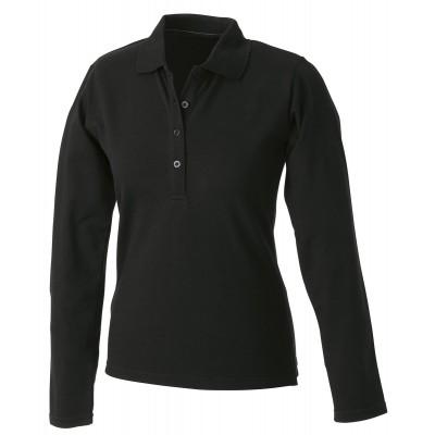Polo Ladies' Elastic Polo Long-Sleeved colore black taglia S