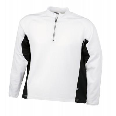 T-Shirt Men's Running Shirt colore white/black taglia S