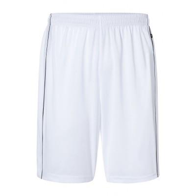 Pantaloni Basic Team Shorts colore white/black taglia S