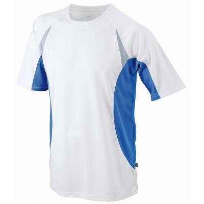 T-Shirt Men's Running-T colore white/royal taglia S