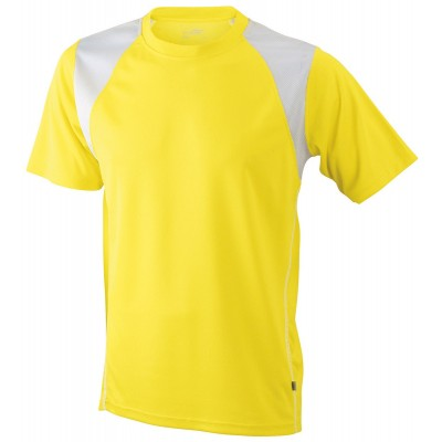 T-Shirt Men's Running-T colore yellow/white taglia S