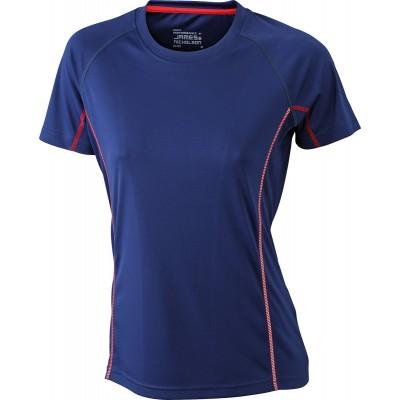 T-Shirt Ladies' Running Reflex-T colore navy/red taglia S