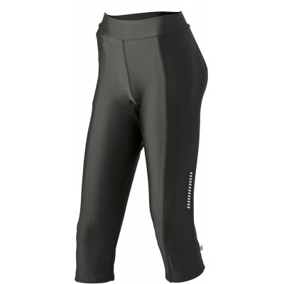 Pantaloni Ladies' Bike 3/4 Tights colore black taglia S