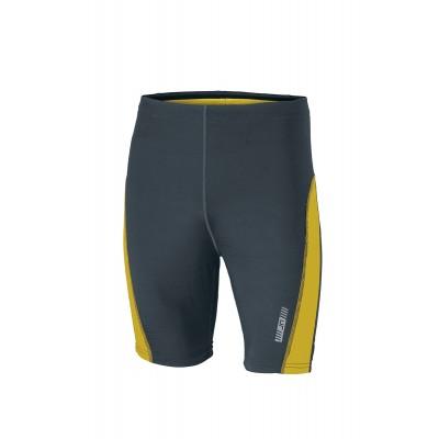 Pantaloni Men's Running Short Tights colore iron-grey/lemon taglia S