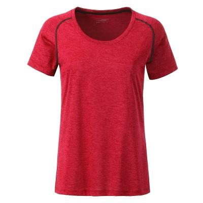T-Shirt Ladies' Sports T-Shirt colore red-melange taglia XS
