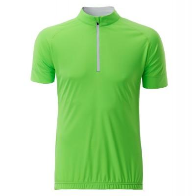 T-Shirt Men's Bike-T Half Zip colore bright-green/white taglia S