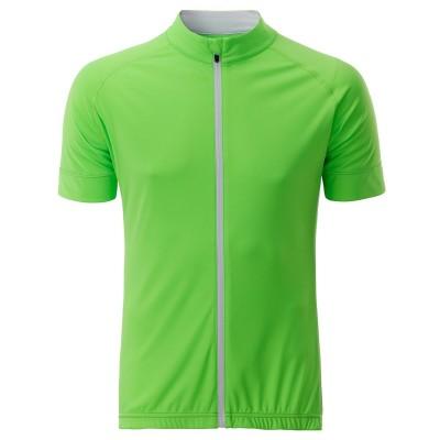 T-Shirt Men's Bike-T Full Zip colore bright-green/white taglia S