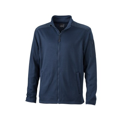 Pile Men's Knitted Fleece Jacket colore navy/navy taglia S