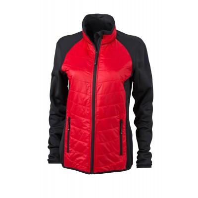 Giacche Ladies' Hybrid Jacket colore black/red/black taglia S