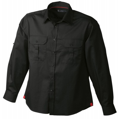 Camicie Men's Travel Shirt Roll-up Sleeves colore black taglia S
