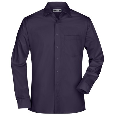 Camicie Men's Business Shirt Long-Sleeved colore aubergine taglia S