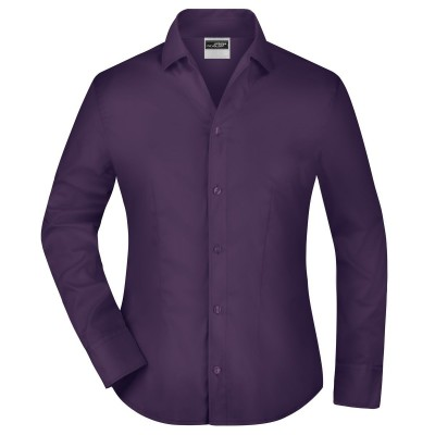 Camicie Ladies' Business Blouse Long-Sleeved colore aubergine taglia XS