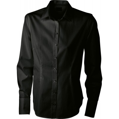 Camicie Ladies' Long-Sleeved Blouse colore black taglia XS