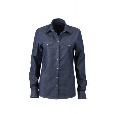Camicie Ladies' Denim Blouse colore dark-denim taglia XS