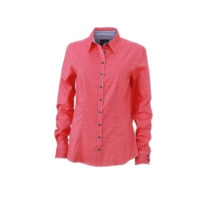 Camicie Ladies' 'Stripes Details' Shirt colore red/navy/white taglia XS