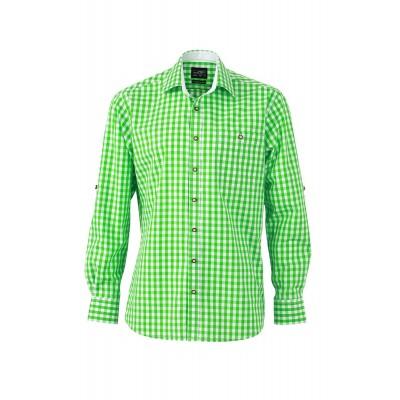 Camicie Men's Traditional Shirt colore green/white taglia S