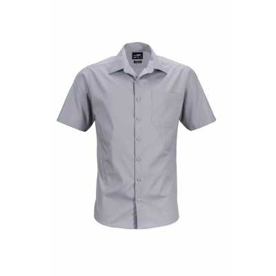 Camicie Men's Business Shirt Shortsleeve colore steel taglia S