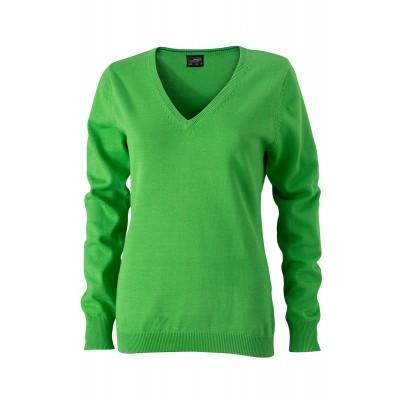 Maglieria Ladies' V-Neck Pullover colore green taglia XS
