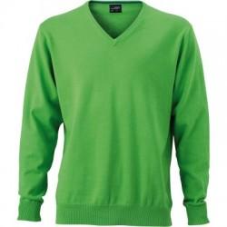 Maglieria Men's V-Neck Pullover colore green taglia S