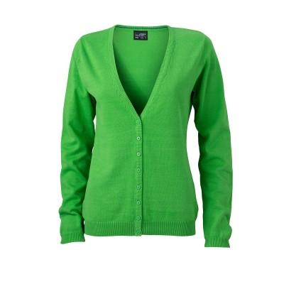 Maglieria Ladies' V-Neck Cardigan colore green taglia XS