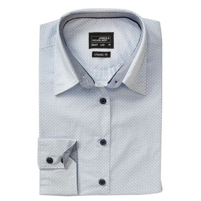 Camicie Ladies' Shirt 'Diamonds' colore white/light-blue taglia XS