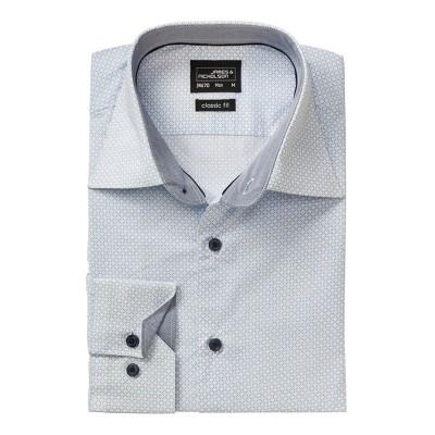Camicie Men's Shirt 'Diamonds' colore white/light-blue taglia S