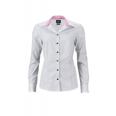 Camicie Ladies' Shirt 'Dots' colore white/titan taglia XS
