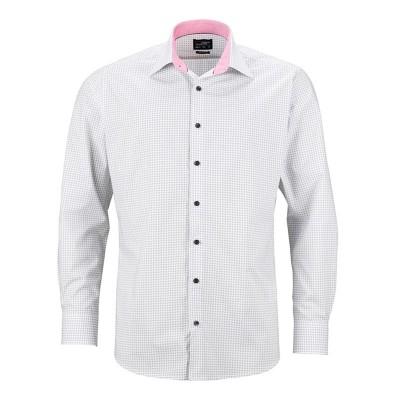 Camicie Men's Shirt 'Dots' colore white/titan taglia S