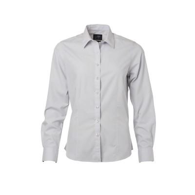 Camicie Ladies' Shirt Longsleeve Poplin colore light-grey taglia XS