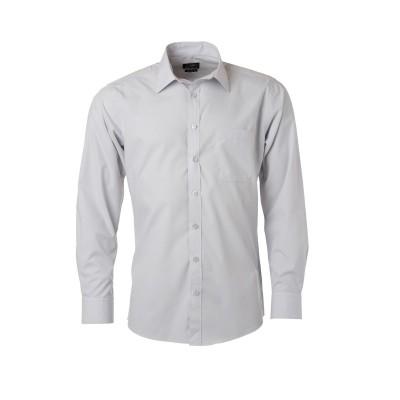 Camicie Men's Shirt Longsleeve Poplin colore light-grey taglia S