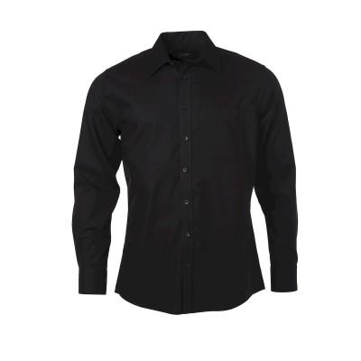 Camicie Men's Shirt Longsleeve Micro-Twill colore black taglia S