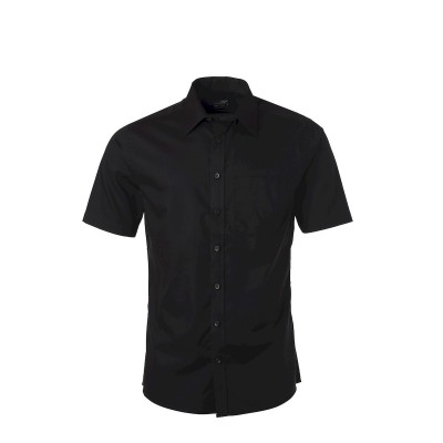 Camicie Men's 'Shirt Shortsleeve Micro-Twill colore black taglia S