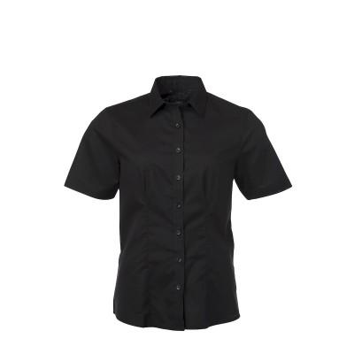 Camicie Ladies' Shirt Shortsleeve Oxford colore black taglia XS