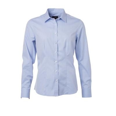 Camicie Ladies' Shirt Longsleeve Herringbone colore light-blue taglia XS